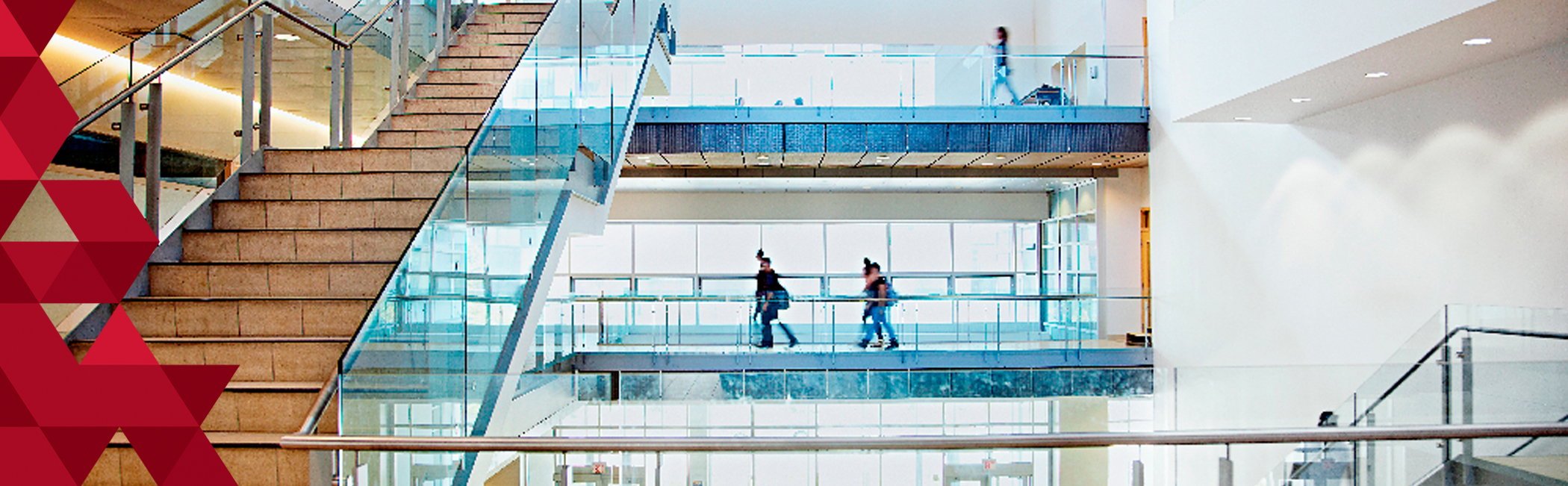 Students Walking through the TEL building