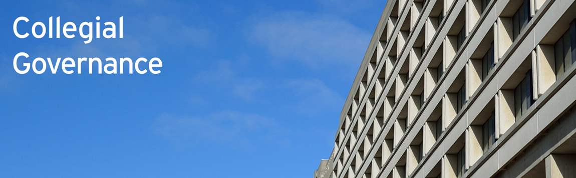 Collegial Governance sky and Ross building